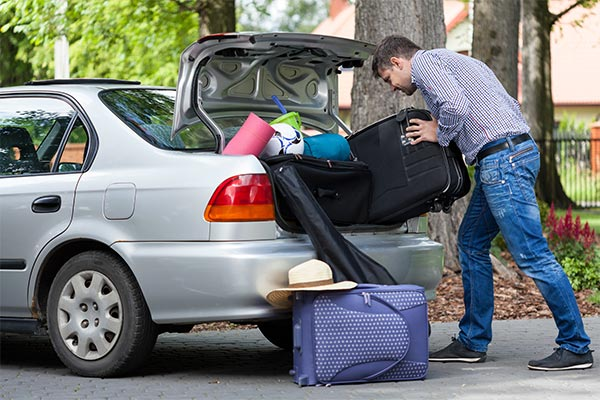 Packing Personal Belongings in a Car